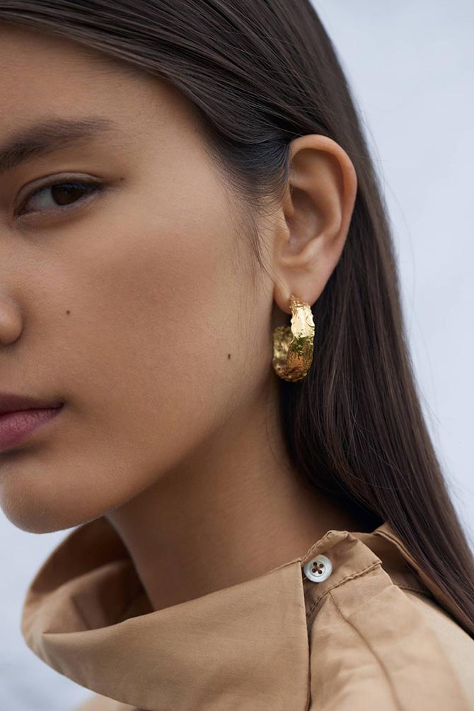 Nadia Shelbaya earrings. Photo British Vogue