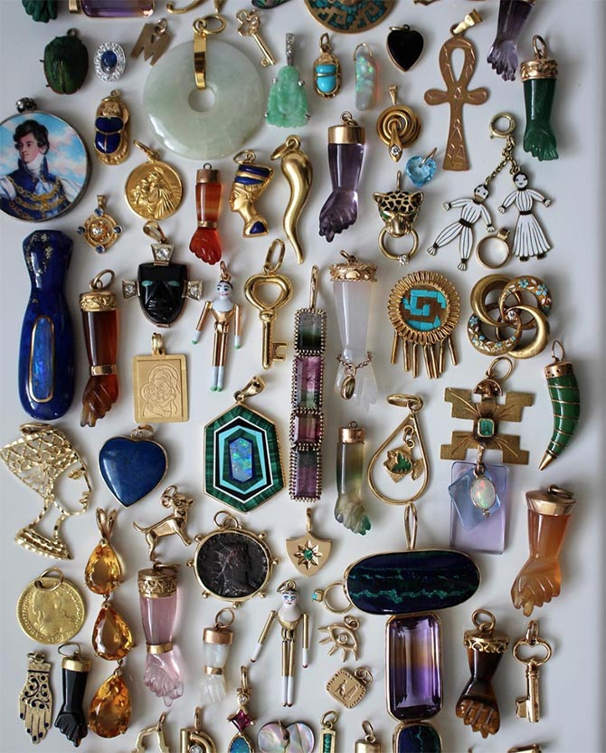 A few of Gem Gossip's charms in her personal collection. Photo @GemGossip/Instagram