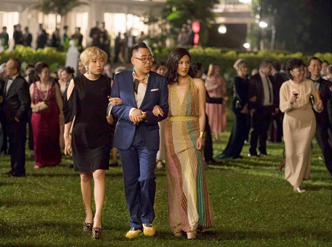 Awkwafina, Nico Santos and Constance Wu in 'Crazy Rich Asians.' Photo Warner Bros.