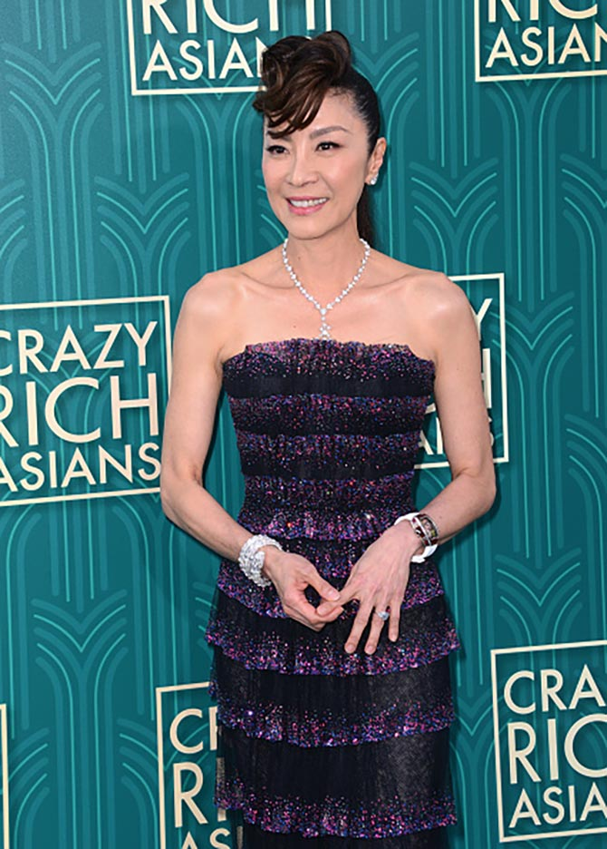 Michelle Yeoh in Bulgari diamonds