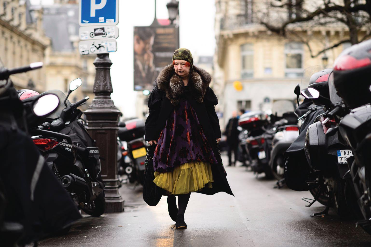 Lynn Yaeger on the streets of Paris, a city she loves and visits as often as possible to explore the flea markets. Photo Adam Katz Sinding/Trunk Archives