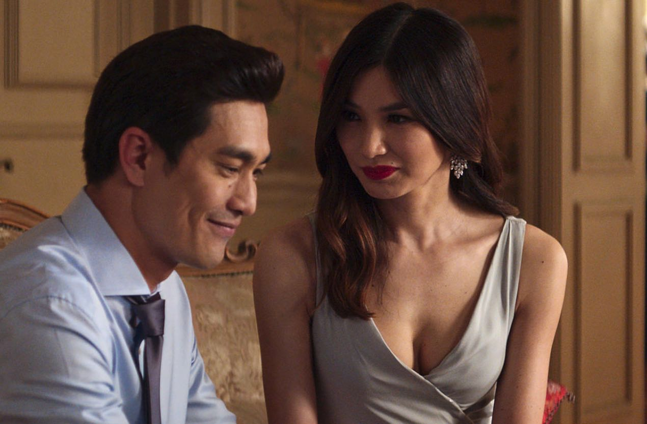 Pierre Png and Gemma Chan in 'Crazy Rich Asians.' Photo Warner Bros.