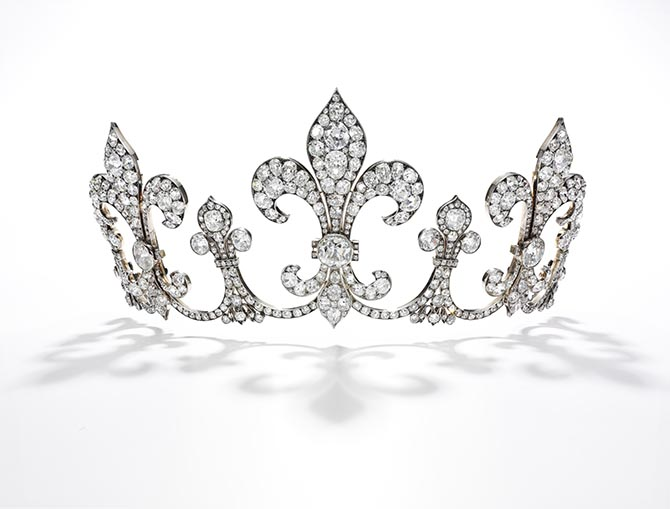 Archduchess Maria Anna of Austria (1882-1940) tiara by the celebrated Vienna jeweller Hübner. Photo Sotheby's