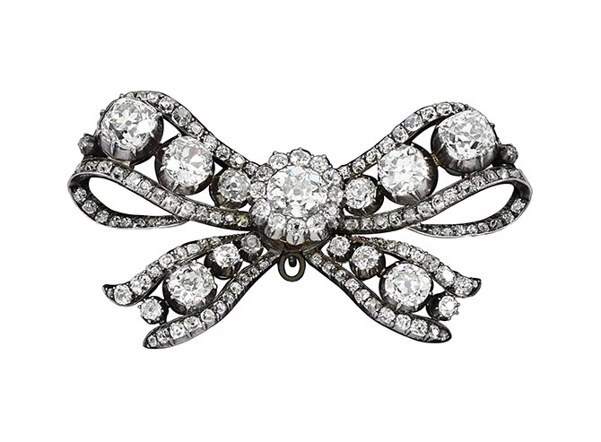 18th century diamond bow.