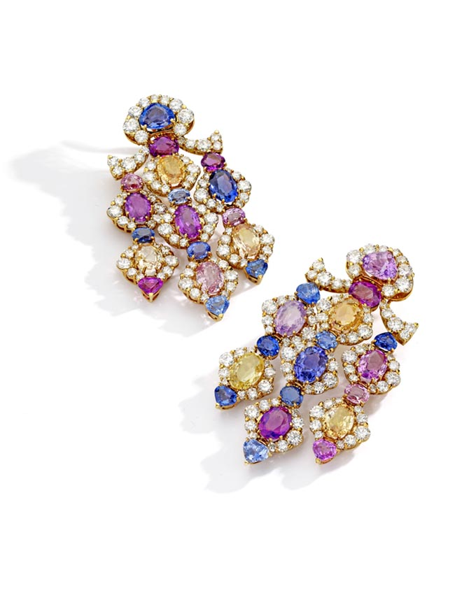 Nancy Sinatra's Marina B earrings at Sotheby's New York Photo via