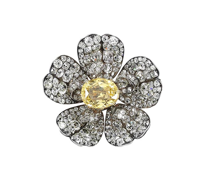 Princess Isabella of Croÿ diamond brooch