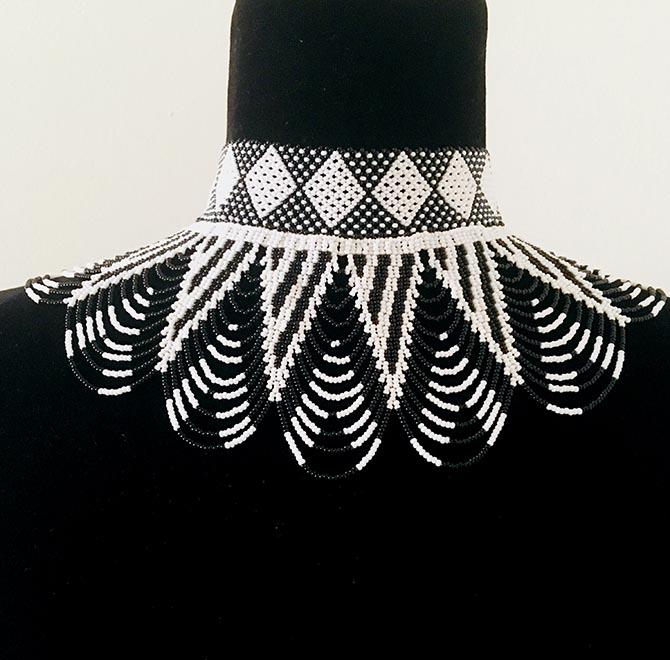House of Yimama black and white bead necklace Photo courtesy