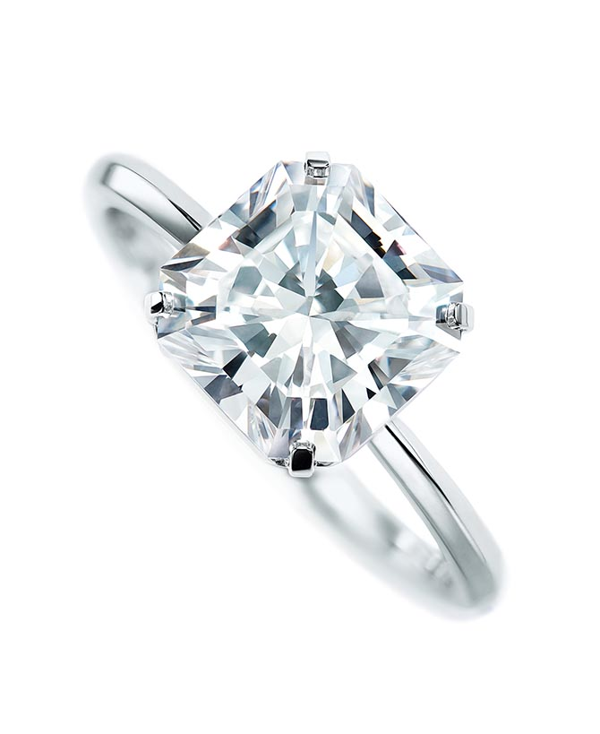 Tiffany True diamond and platinum engagement ring Photo courtesy