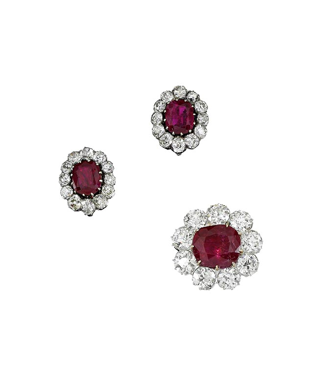 Queen Isabella II of Spain Burmese Ruby Set