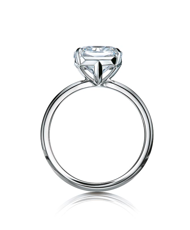Tiffany True diamond and platinum ring Photo courtesy