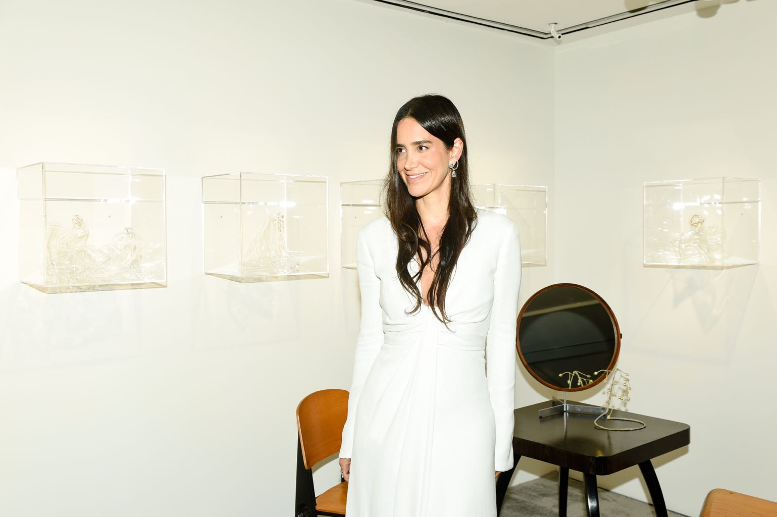 Jewelry designer Ana Khouri at her Phillips exhibition in New York on September 13, 2018. Photo BFA