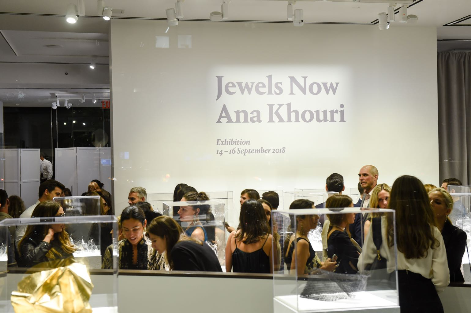 The opening night party for Jewels Now : Ana Kouri at Phillips in New York on September 13, 2018. Photo BFA