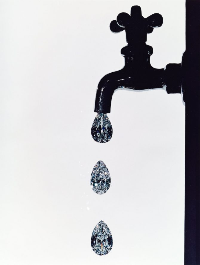 'Faucet Dripping With Diamonds' by Irving Penn
