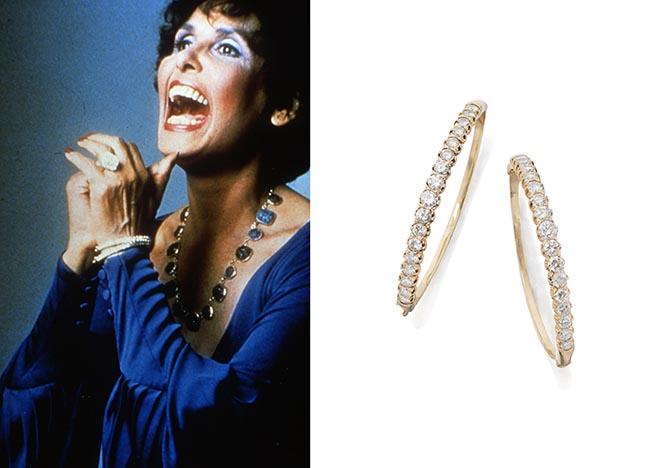 Lena Horne wore her diamond bracelets in the promotional images for her 1981 Broadway show. Photo courtesy and Sotheby's