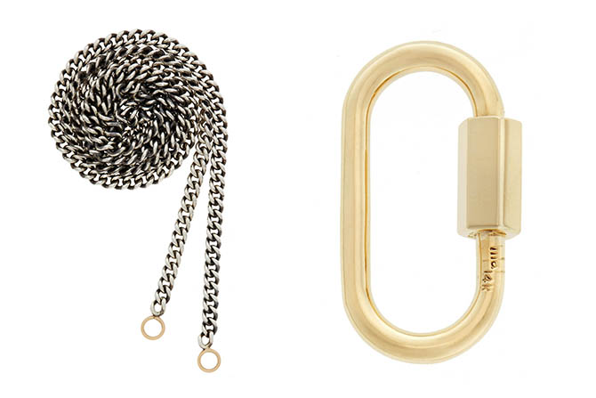 The Marla Aaron Medium Lock and Chain worn by Elle Fanning in 'I Think We're Alone Now.""