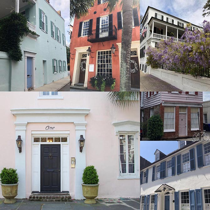 Various building in Charleston that inspired designs in the Croghan's collection. Photo courtesy