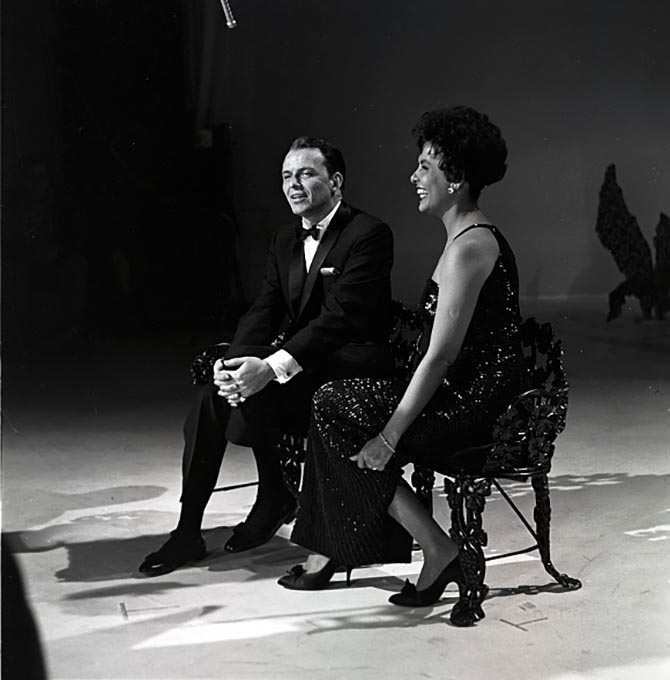 Frank Sinatra performing with Lena Horne on ABC television in 1960. Photo Getty