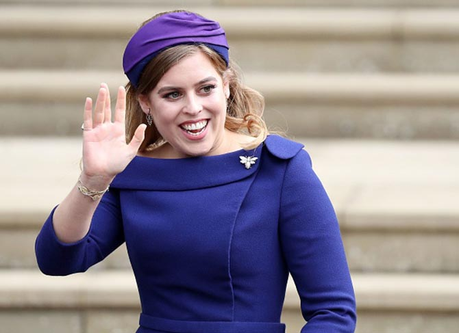 Princess Beatrice wore a delightful bug brooch with antique earrings and bracelets