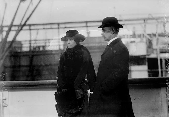 Vera Boarman Whitehouse with her husband James who was the treasurer of the Men's League for Women's Suffrage. Photo Wikipedia Commons