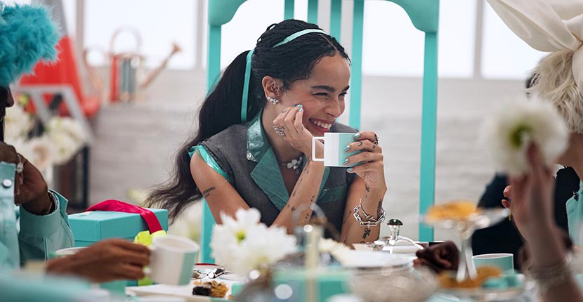 The Adventurine Posts Zoë Kravitz Stars in Tiffany's Holiday Video