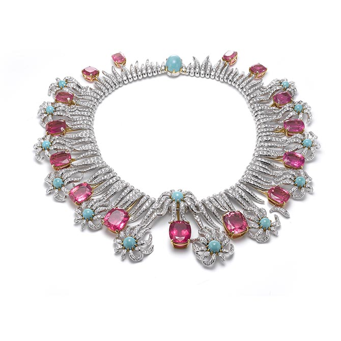 Carroll Petrie's Hedges and Rows necklace by Jean Schlumberger for Tiffany & Co. Photo