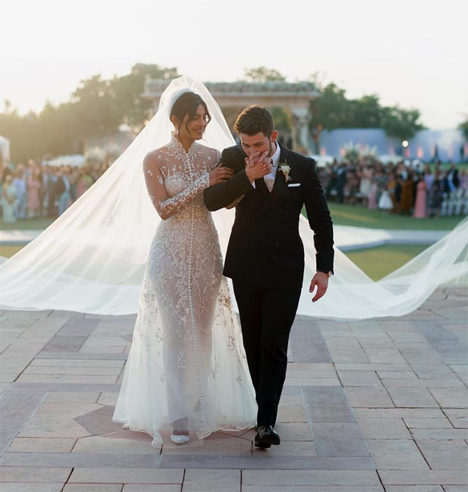 Priyanka Chopra wore Ralph Lauren and Chopard diamonds to her wedding