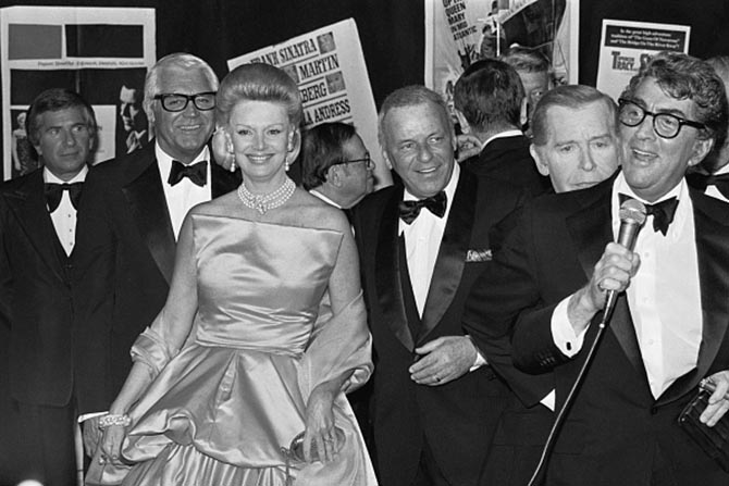 Rat Pack photo with Dean Martin, Barbara and Frank Sinatra