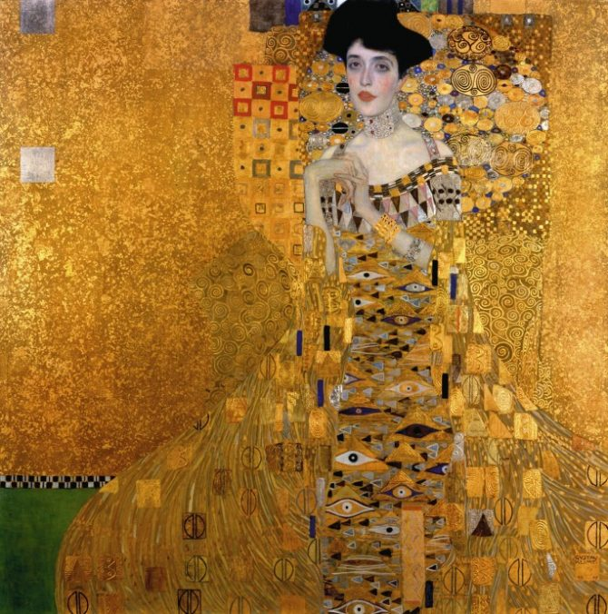 The Portrait of Adele Bloch-Bauer I by Gustav Klimt. Photo Getty/Neue Galerie, New York