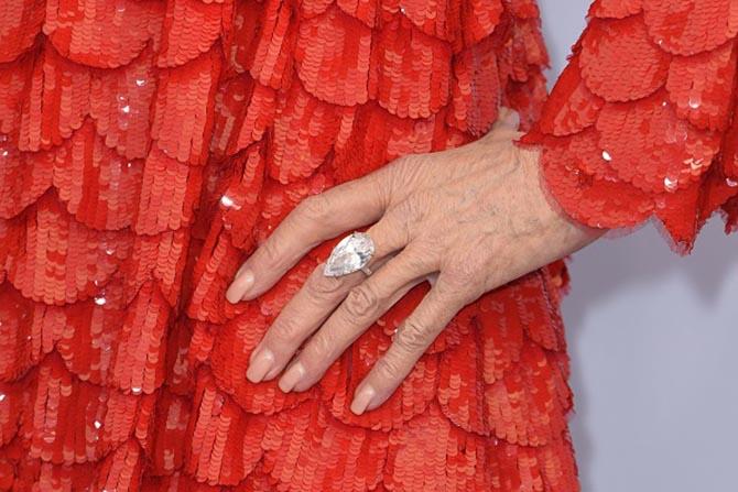 Detail Jane Fonda Gismondi ring