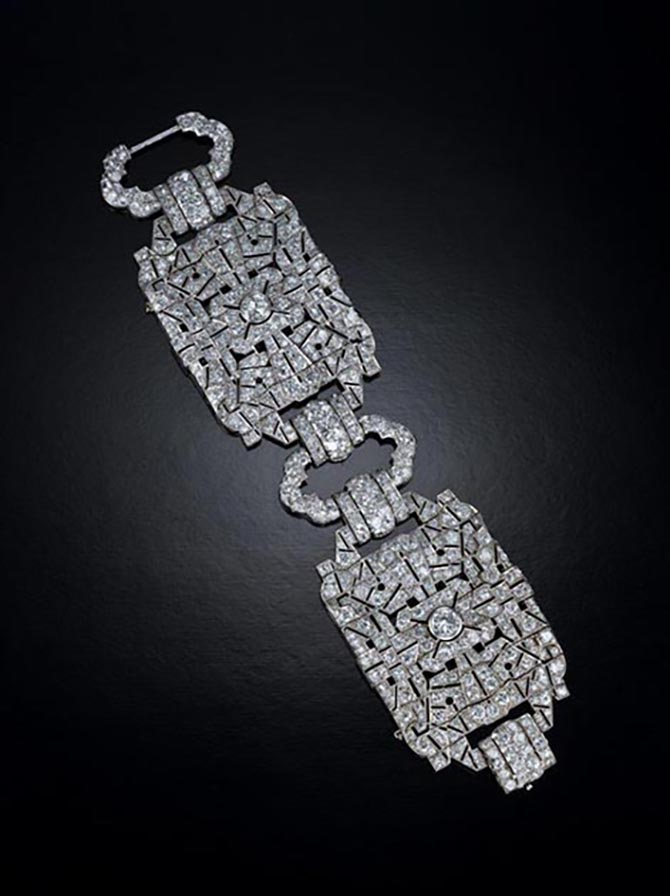 Mae West's Art Deco diamond bracelet from Neil Lane's Archive Collection. Photo Neil Lane