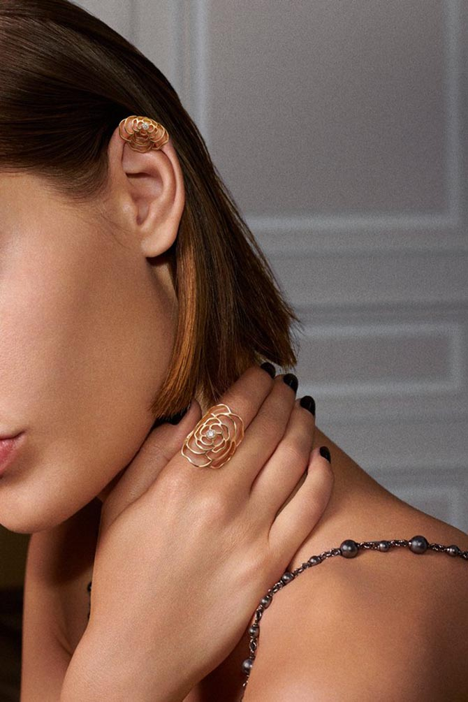 Chanel Camelia jewelry collection. Photo Chanel
