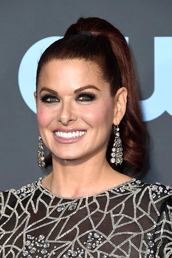 Debra Messing in FD Gallery 18th century diamond earrings.