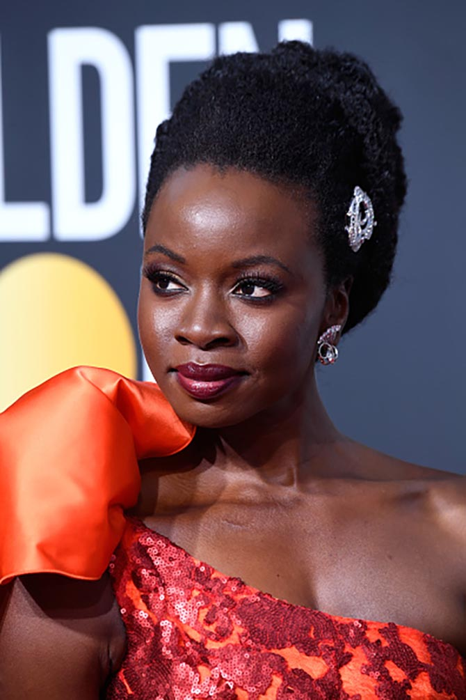 Danai Gurira in vintage diamond jewels from Fred Leighton
