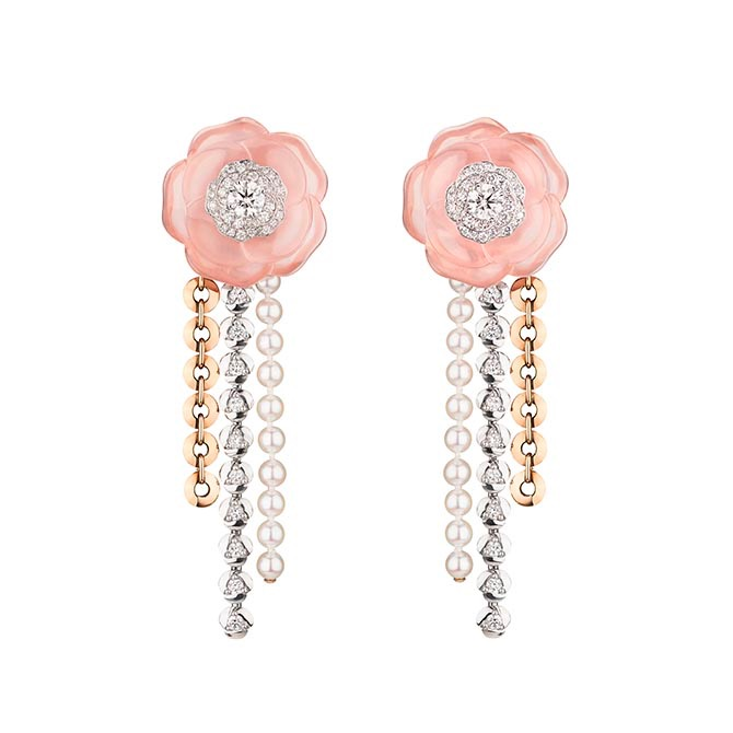 Rose Tendre earrings from Chanel's 1.5 High Jewelry collection Photo Chanel