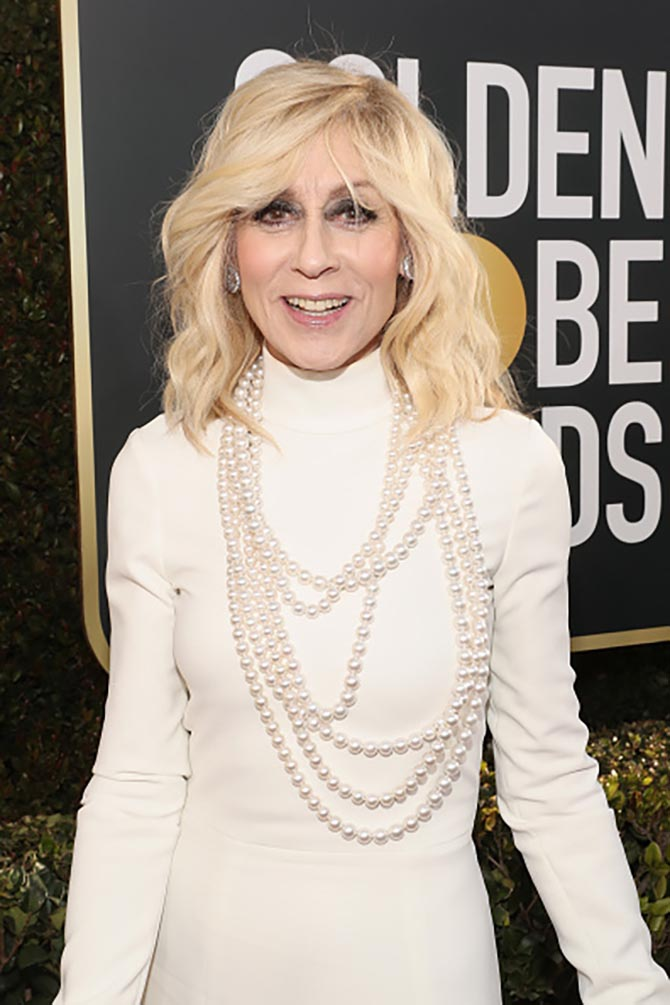 Judith Light in Sydney Garber pearls