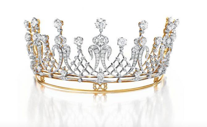 Elizabeth Taylor's antique diamond tiara. Photo Christie's
