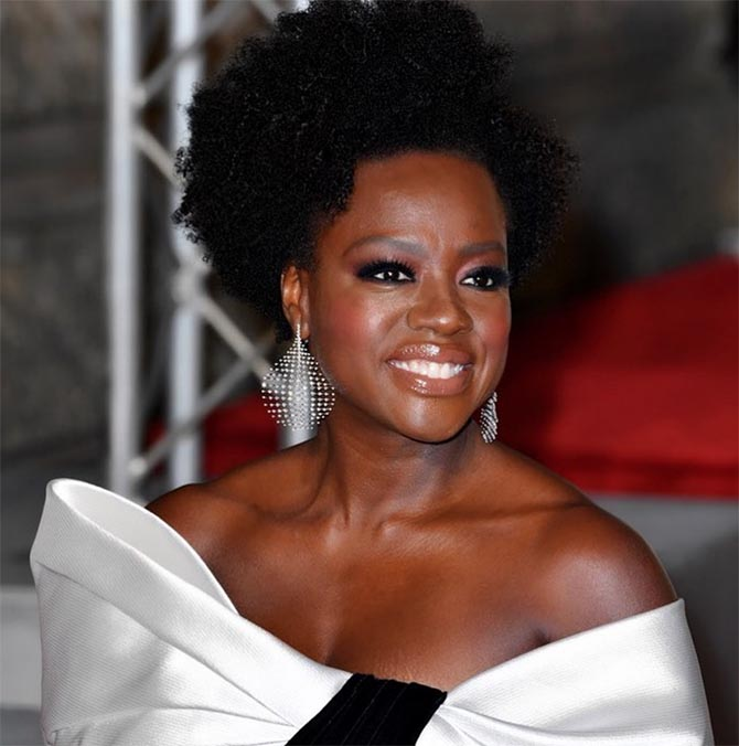 Viola Davis in Fernando Jorge Disco Earrings
