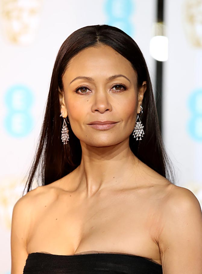 Thandie Newton wore Solange Azagury Partridge earrings at the BAFTAs
