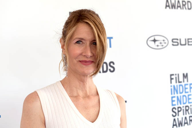 Laura Dern wore a diamond earring by Ana Khouri