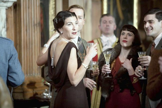 In 'The King's Speech,' actress Eve Best acted as Wallis Simpson and wore a Van Cleef & Arpels Zip necklace reversed down he back. Photo courtesy
