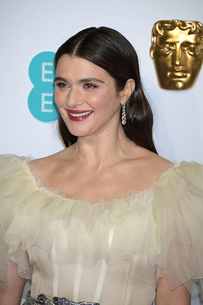 Rachel Weisz wore Cartier jewelry to the BAFTAS.