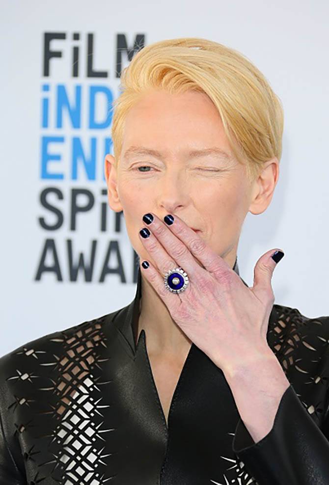 Tilda Swinton wearing a Solange Azagury-Partridge ring
