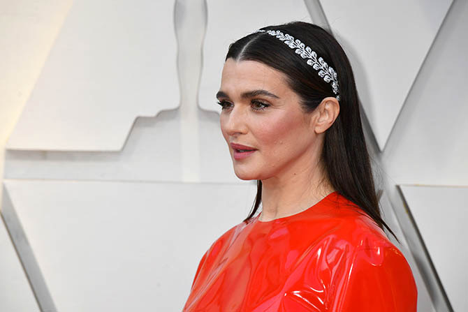Rachel Weisz in vintage Cartier diamond hair ornaments
