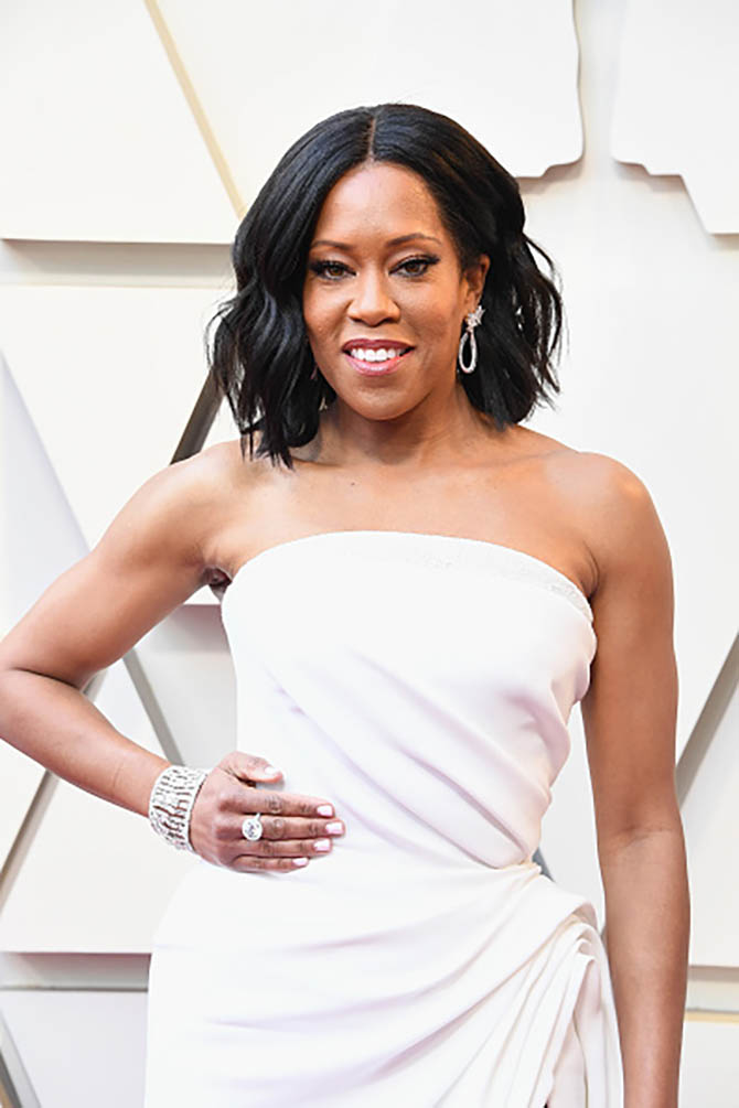 Regina King wore diamond jewelry from Chopard