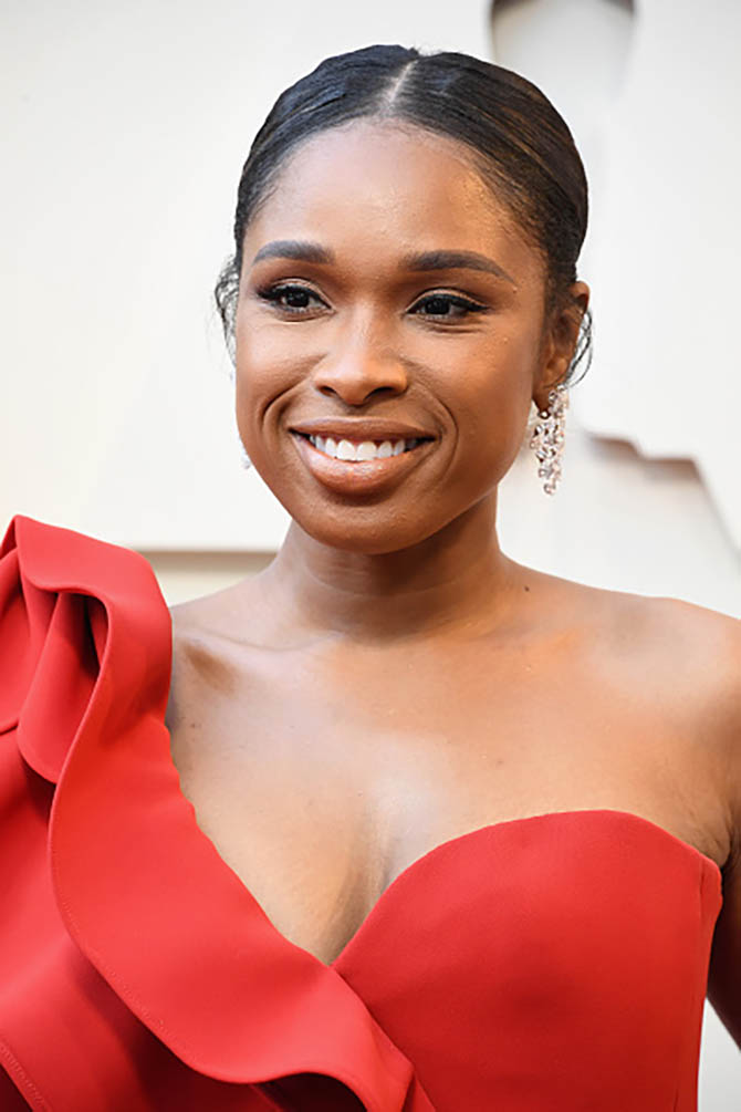 Jennifer Hudson wore vintage Harry Winston diamond earrings