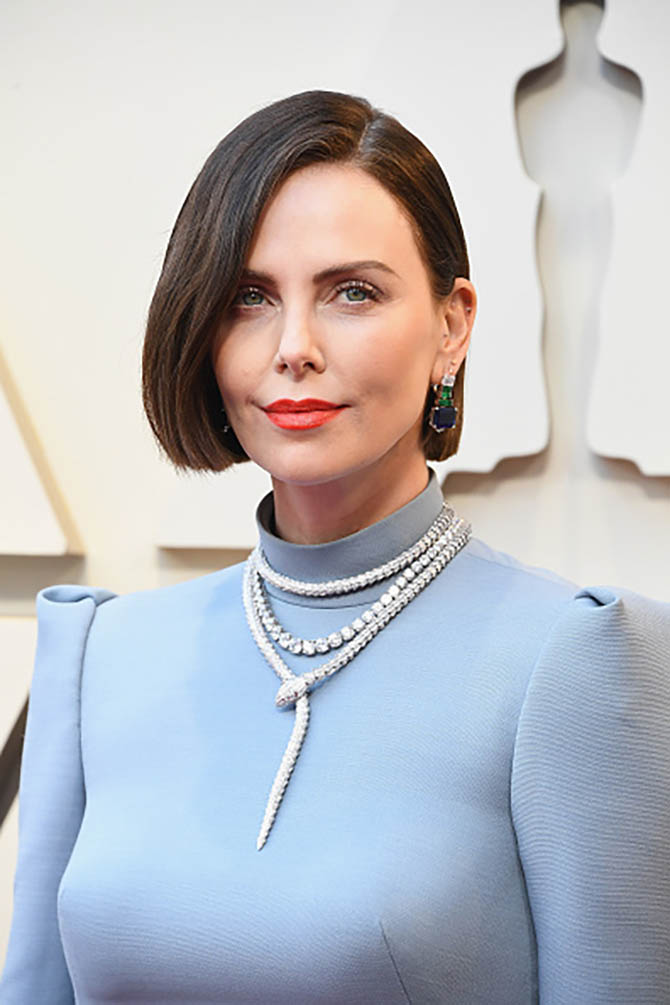 Charlize Theron wore Bulgari