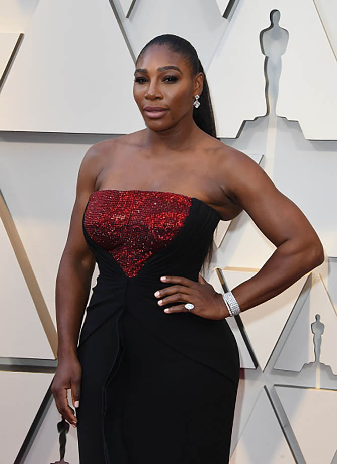 Serena wore diamond jewelry by Forevermark.
