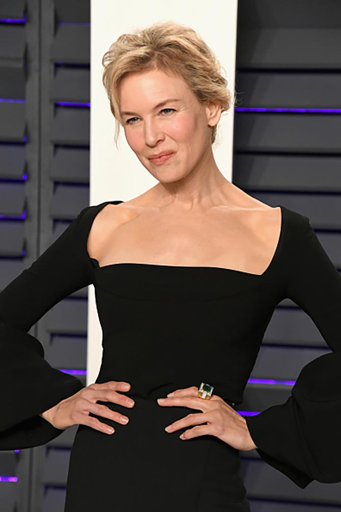 Renee Zellweger wore a big cocktail ring by David Webb