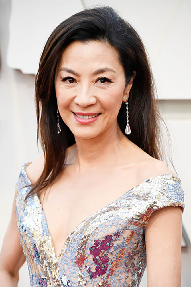 Michelle Yeoh wore diamond jewelry by Chopard