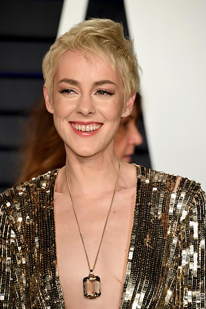 Jena Malone wore a necklace from Beladora.